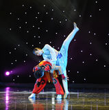 The eagle fly---Mongolia folk dance Royalty Free Stock Image