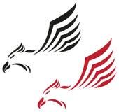Eagle flygsymbol stock illustrationer