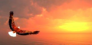 Eagle flying - 3D render Stock Image