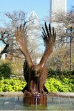 Eagle Fountains en Grant Park Chicago image stock