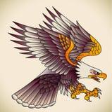 Eagle gammal-skola tatuering Arkivbild