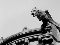 Eagle gargoyle on the Sacre Coeur cathedral, Paris stock images