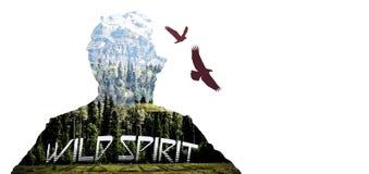 Eagle-Geist auf dem Berg Lizenzfreie Stockfotografie