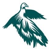 Eagle gestileerd symbool Royalty-vrije Stock Afbeeldingen