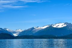 Eagle Glacier nahe Juneau, Alaska lizenzfreies stockbild