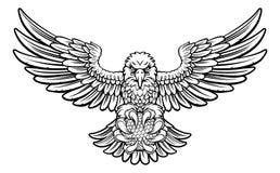 Eagle Golf Sports Mascot Stock Photo