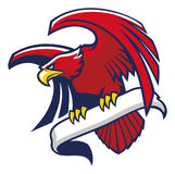 Eagle-greep een teken Stock Afbeelding