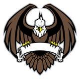 Eagle-greep het lege lint royalty-vrije illustratie