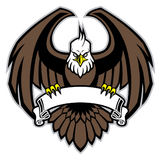 Eagle grip the blank ribbon. Vector of eagle grip the blank ribbon royalty free illustration
