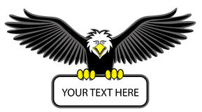Eagle grip the blank sign Stock Image