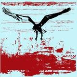 Eagle Grunge Background. Background grunge illustration with an Eagle swooping stock illustration