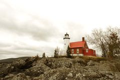 Eagle Harbor Light, Lake Superior, Michigan. Eagle Harbor lighthouse, Eagle Harbor Michigan Royalty Free Stock Images