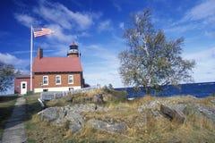 Eagle Harbor Lighthouse sulla penisola superiore, MI Fotografia Stock Libera da Diritti