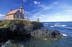 Eagle Harbor Lighthouse on the Upper Peninsula, MI Stock Image