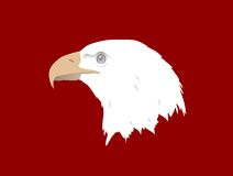 Eagle head. Raster version of image of eagle head Vector Illustration