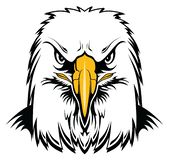 Eagle Head chauve illustration de vecteur