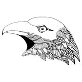 Eagle head doodle illustration Royalty Free Stock Images