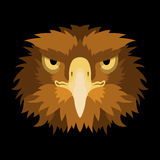 Eagle head face vector illustration style Flat Royalty Free Stock Images