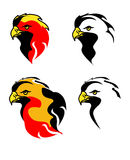 Eagle head (four variants) Stock Photos