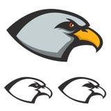 Eagle head icon isolated on white background. Vector design elem Stock Images