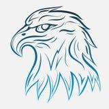 Eagle head linje Royaltyfria Foton