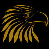 Eagle Head Logo Logo Royalty-vrije Stock Foto's