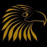 Eagle Head Logo Logo Fotografie Stock Libere da Diritti