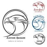 Eagle Head Logo Set Royalty Free Stock Images