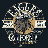 Eagle head logo vector Royalty Free Stock Images