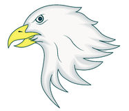 Eagle Head Mascot Cartoon Animal tecken royaltyfri illustrationer