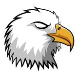 Eagle Head Mascot fâché Image stock