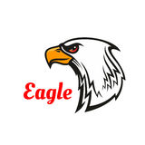 Eagle head mascot for sporting design Royalty Free Stock Image