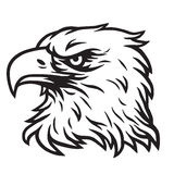 Eagle Head Mascot Vector Drawing-Embleem Stock Foto's