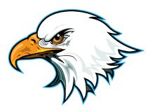 Eagle Head Profile Royalty Free Stock Photos