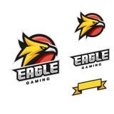 Eagle Head Sport Style Vector-Schablone lizenzfreie abbildung