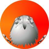 Eagle head on sunrise, illustration Royalty Free Stock Photo