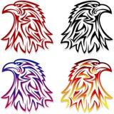 Eagle Head Symbol Emblem Tattoo descrive il rosso nero illustrazione di stock