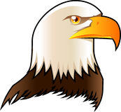 Eagle. Head symbol shield icon  illustration Royalty Free Stock Image