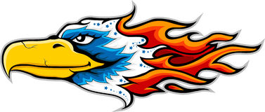Eagle head tattoo Stock Images