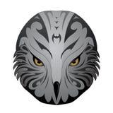 Eagle head tattoo. Eagle head as ethnic tattoo shape isolated on white Stock Image