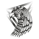 Eagle Head Vintage Vector illustration royalty free illustration