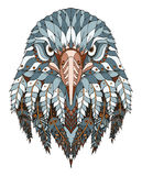Eagle head zentangle stylized, vector, illustration, freehand pe Royalty Free Stock Image
