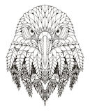 Eagle head zentangle stylized, vector, illustration, freehand  Royalty Free Stock Image