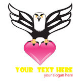 Eagle heart Stock Image