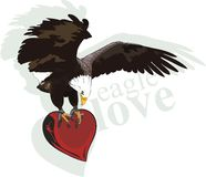 Eagle heart Royalty Free Stock Photos