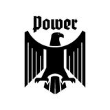 Eagle heraldic gothic vector sign Stock Photo
