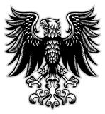 Eagle heraldry in classic pen style Stock Photo