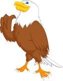 Eagle-het beeldverhaal beduimelt omhoog Stock Foto's
