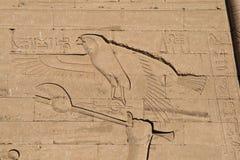 Eagle hieroglyph. At Edfu Temple, Egypt Royalty Free Stock Photo