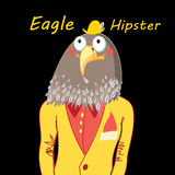 Eagle hipster Stock Image